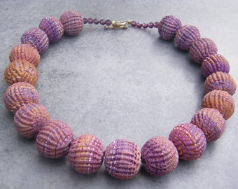 Rough cut extruder Bead Necklace