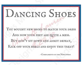 Dancing Shoes Wedding flip flop Sign - Printables