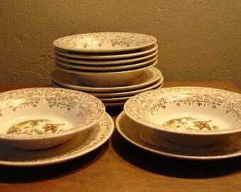 Victorian Ice Cream Bowls and Dessert Serving Plates