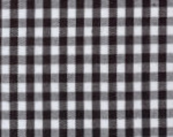 "HALF YARD 1/8"" BLACK Fabric Finders Gingham"