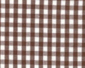 "HALF YARD 1/8"" CHOCOLATE Fabric Finders Gingham"