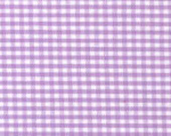 "HALF YARD 1/16"" LILAC Fabric Finders Gingham"