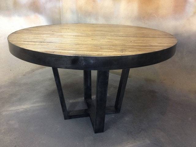 Rustic Industrial Dining Table Industrial Rustic Round Dining