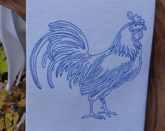 Blue Rooster Cotton Huck Towel Kitchen Towel Dish Towel