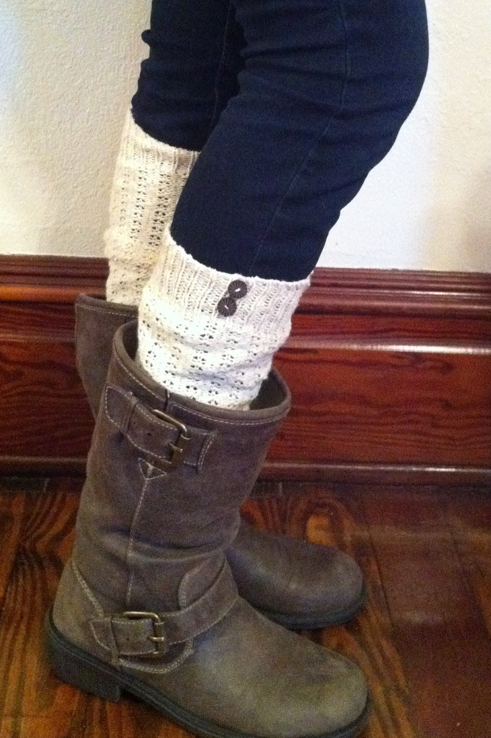 OffWhite Leg Warmers Boot Socks Knee High Boot By ...