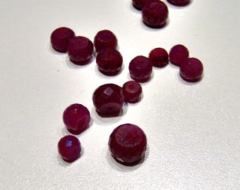 18 small ruby beads