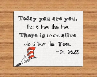 8x10 Dr Seuss Printable Wall Art Motivational Quote