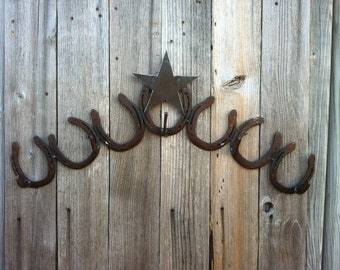 Horseshoe Coat Rack With Star