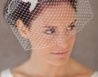 "Bridal Veil, Birdcage Wedding - ""Amber"""