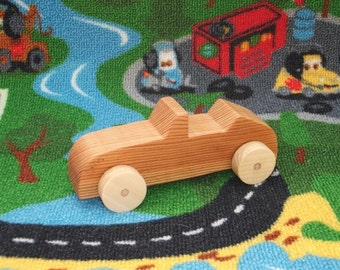 Beautiful, handcrafted, high quality wooden toy car (Convertible).