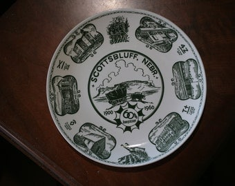 1960 Scottsbluff, NE 60th Anniversary Commemorative Plate