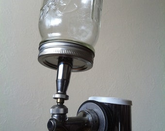 Beer Tap Handle: Customizable ball jar beer tap handle, keg handle