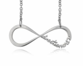 1D One Direction  Silver Infinity Directioner Necklace.  Fast shipping from USA