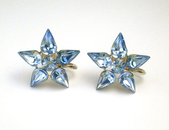 rhinestone vintage earrings