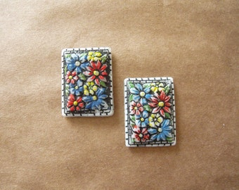 Vintage Mosaic Cabochon