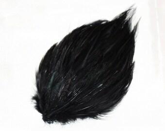Black Rooster Hackle Pad (1 Pad)