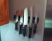 """20"""" Double-Thick Knife Butler PRO for Fridge, the Double Sided Magnetic Knife Rack that's soft yet powerful!"""