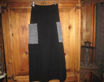 Vintage Goth Fleece  Like Skirt From The 1980's