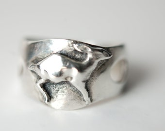 Fawn ring  in .925 silver by Bakutis