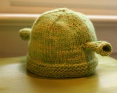 Shrek Ogre Hat Knitting Pattern PDF, Children, Infant, Toddler, Adult