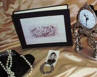 Photo album, shabby chic, vintage, victorian, retro -Cherubs-