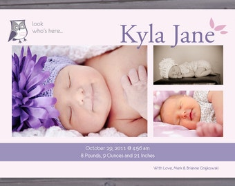 Look Who's Here- Baby Announcement Printable