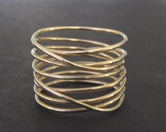 14-K Gold Wrapped Wire Ring
