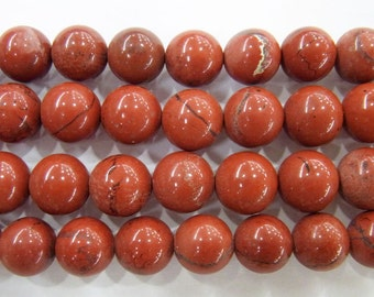 Red Stones Bead Natural Genuine 6mm Round Beads 15''L Semiprecious Gemstone Bead Wholesale Beads Supply