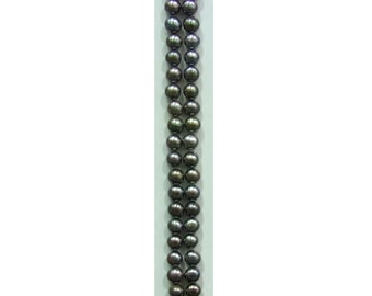 5-5.5mm Button Black Freshwater Pearl Loose 20x Pair-