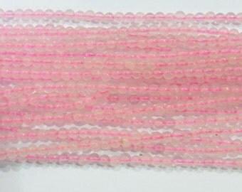2mm Round Rosequartz Beads Genuine Natural 15''L Semiprecious Gemstone Bead Wholesale Beads Supply