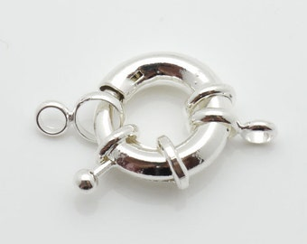 19mm Clasp Wheel Silver Tone 10pieces package Finding -