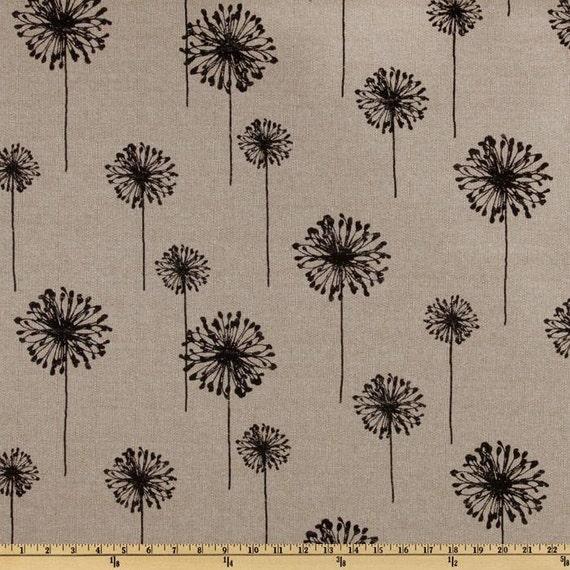 Items similar to 1 2 yard fabric premier prints dandelion for Modern home decor fabric prints