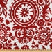Discount Fabrics- Premier Prints Lipstick Red White Suzani- Fabric by the Yard- SHIPS FAST- Christmas Fabric- Upholstery Home Decor