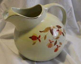 Hall Jewel Ball Water Pitcher in Autumn Leaf Pattern