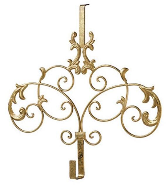 Elegant Gold Wreath Hanger Gold Metal Door By