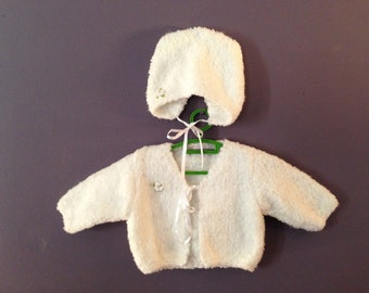 Small vest with white size newborn Hat