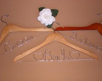 HUGE SALE/Set of 3 Wedding Hangers/Mother of the Bride and Mother of the Groom/Personalized Hangers/Bridal hanger/ Bride / Weddings