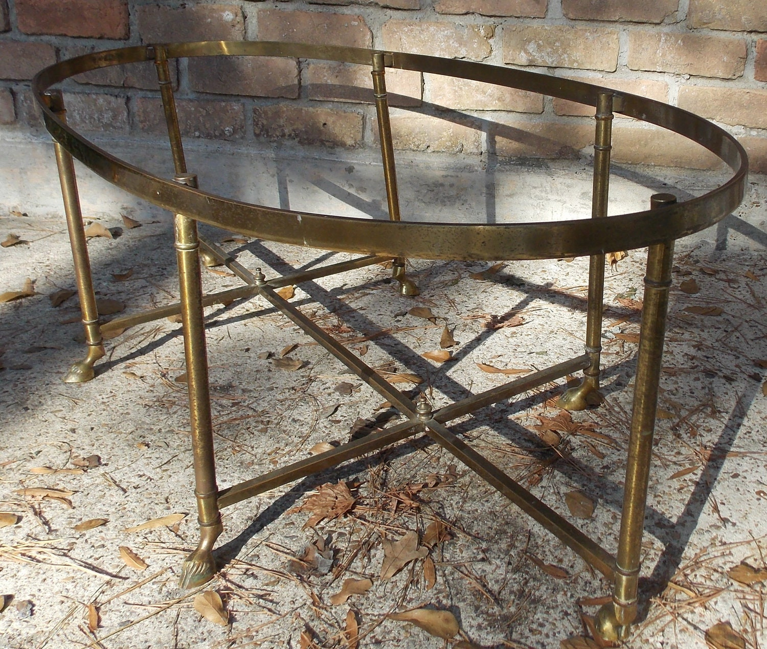 Solid Brass Antique Claw Foot Sofa Table By AnachronismAlley