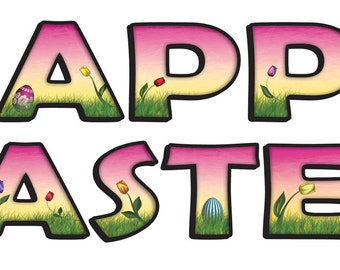 Easter Graphic Kit - reusable decal sticker decorations