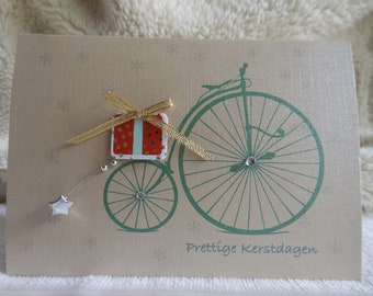 Christmas cards . Holiday Cards . Personalized Christmas Card . Custom Christmas cards . Unique christmas cards . Christmas bike