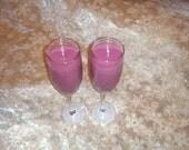 Custom scented soy wine glasses (set of 2)
