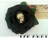 Psychobilly Rockabilly Pin up Horror Creepy Bloody Skull Hair Flower Clip