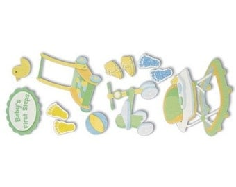 New - Jolees Dimensional Stickers Baby 1st Steps 12pcs