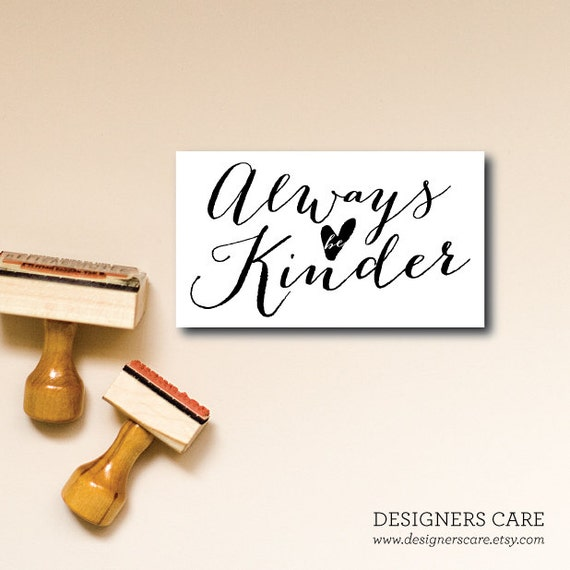 "Set of FIVE Small Inspirational Cards - ""Kinder"""