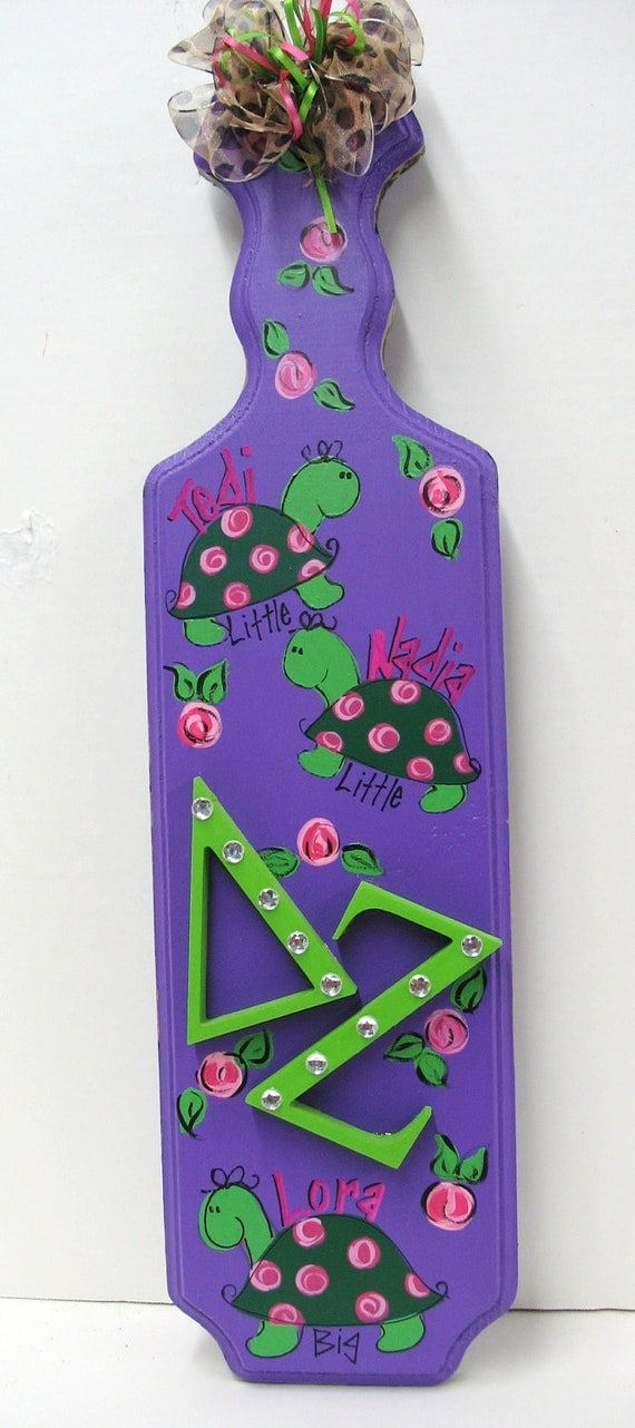 items similar to delta zeta paddle sorority greek on etsy