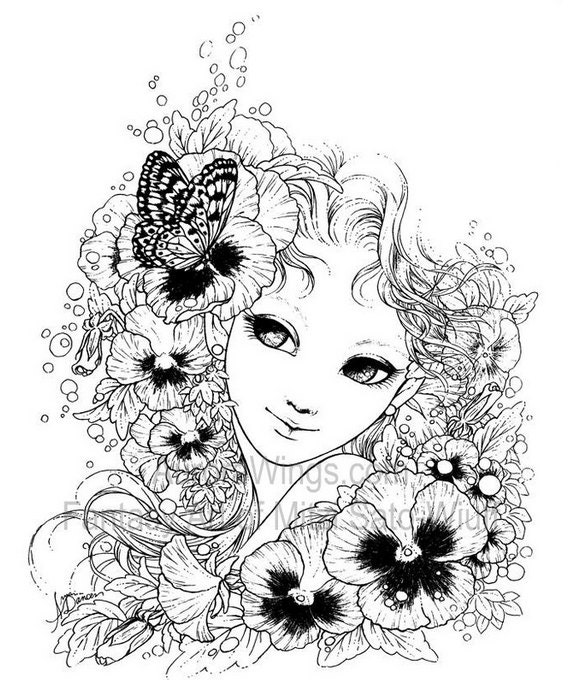 fantasy art coloring book with 19 images gardens goddesses detailed coloring book for grownups art by mitzi sato wiuff - Fantasy Coloring Books