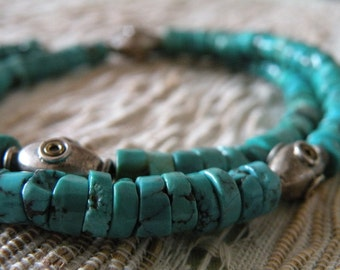 Tibetan TURQUOISE Necklace by ॐ TIBETgalerie turquoise chain necklace
