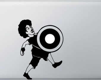 Kettle-Dummer MacBook Sticker, Laptop decal, MacBook Air, MacBook Pro, Vinyl decal, Timpanist, Musicians with kettledrum, Lightsticker