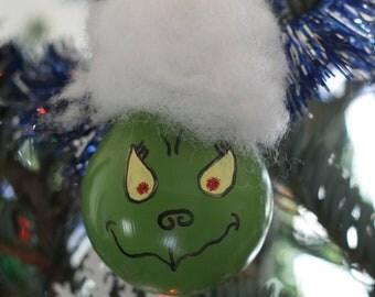 Grinch Light Bulb Ornament