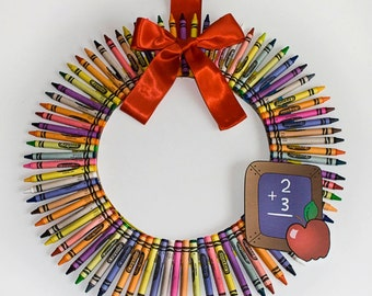 Crayon Wreath - large